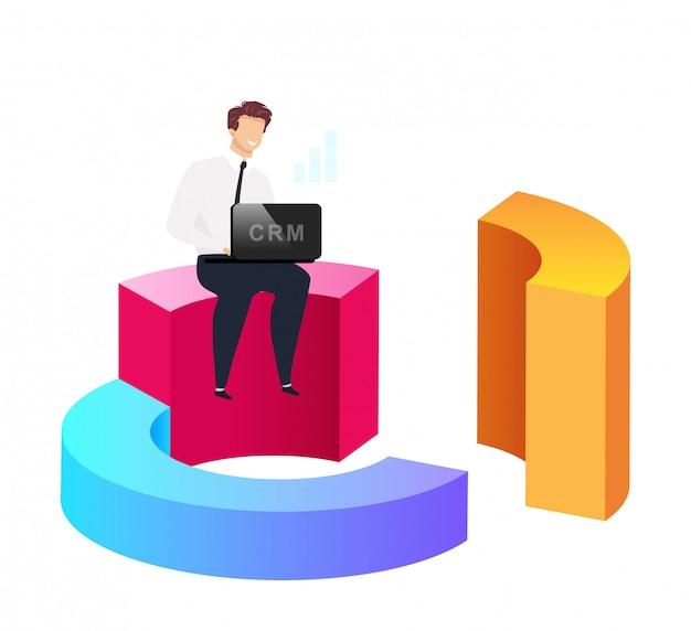 Dados analíticos aprimorados Vetor Premium