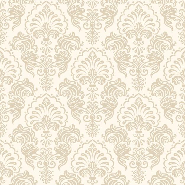 Damask seamless pattern background Vetor grátis