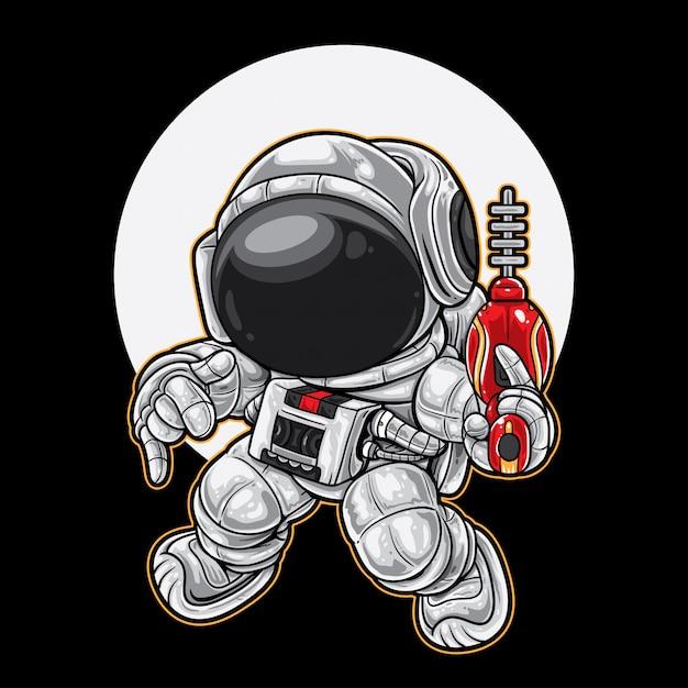 Dança de guarda costeira espacial Vetor Premium