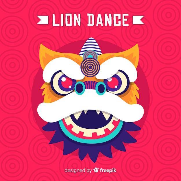Dança do leão Vetor grátis