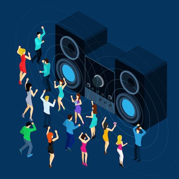 Dançando homens e mulheres Vetor grátis