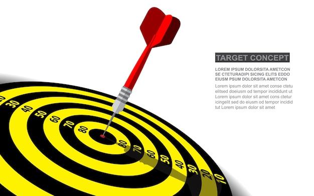 Dardos alvo vector sucesso empresarial soluções conceito. Vetor Premium