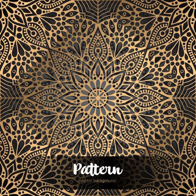 De fundo vector islâmica com mandala Vetor Premium
