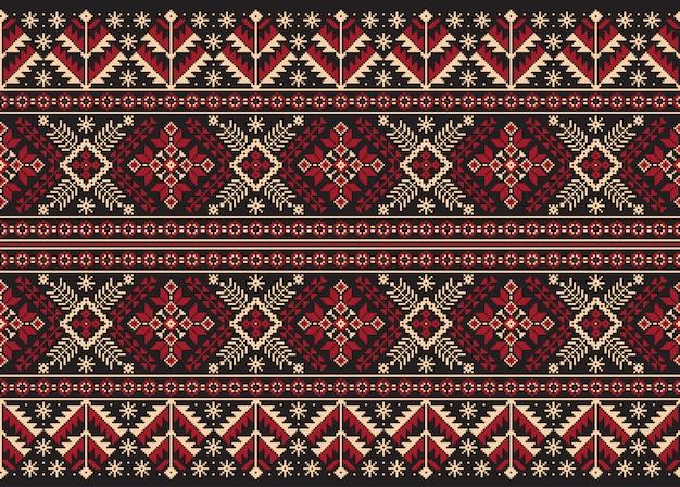 De ornamento folk ucraniano padrão sem emenda. Vetor grátis