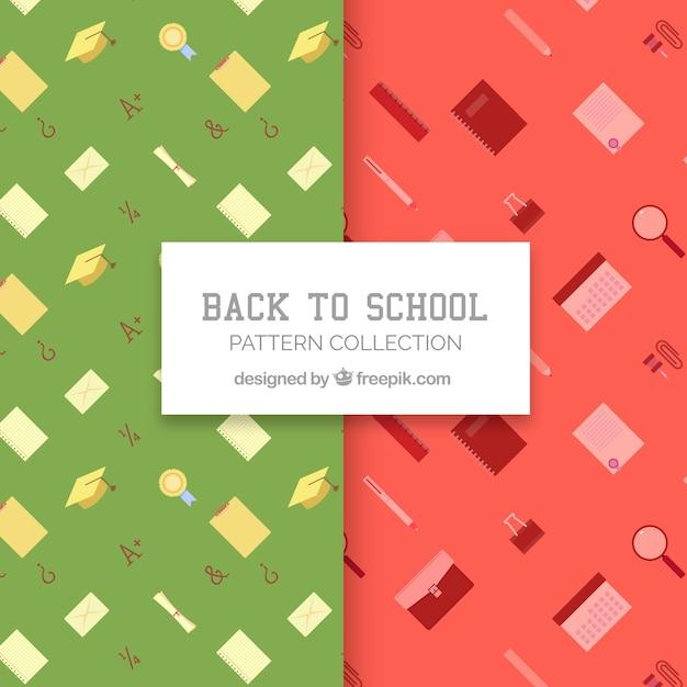 De volta à coleção de padrões de escola Vetor grátis