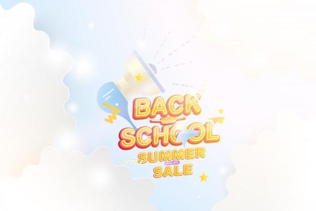 De volta à escola e à venda de verão Vetor Premium