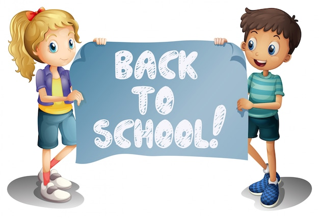 De volta à escola Vetor grátis