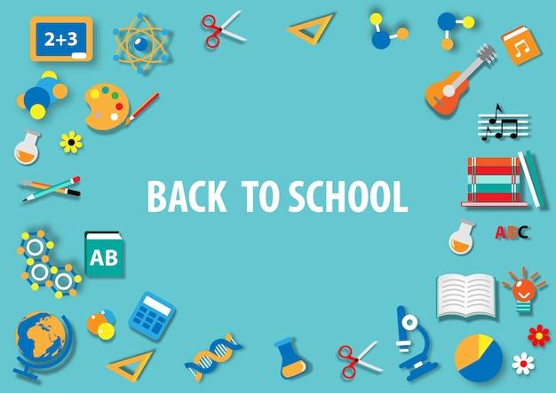 De volta à escola Vetor Premium