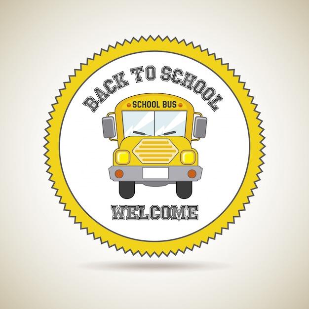 De volta ao ícone da escola Vetor Premium