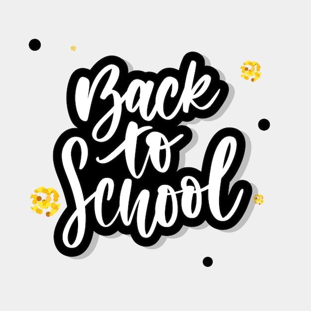 De volta às letras da escola Vetor Premium