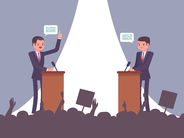 Debate antes da eleição Vetor Premium