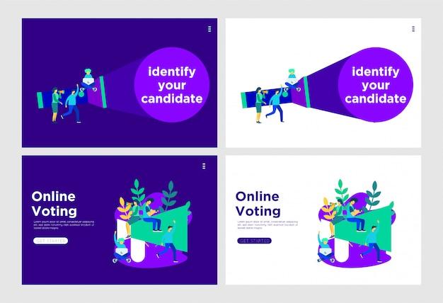 Debater a ilustração plana de votação Vetor Premium
