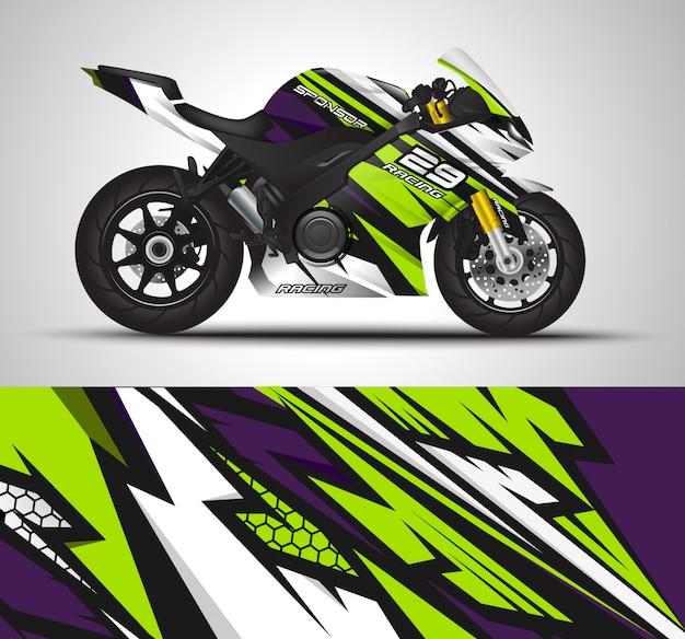 Decalque da motocicleta e adesivos de vinil. Vetor Premium