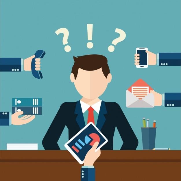 Decisões de negócios Vetor grátis