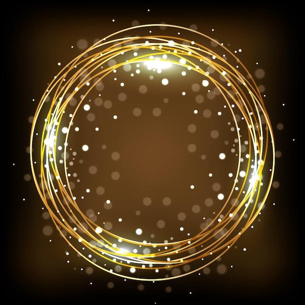 Decoração Com Luzes Douradas Baixar Vetores Premium