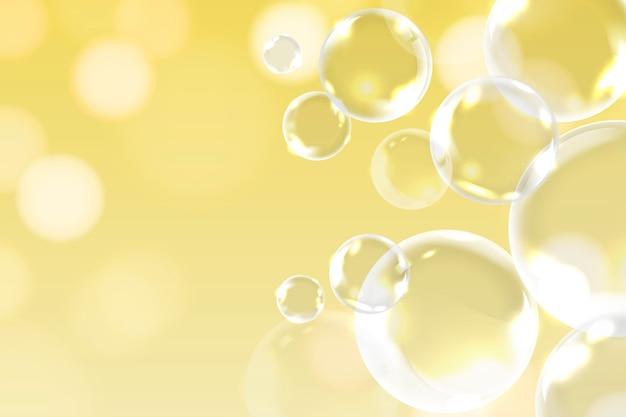 Decoração de bolhas de sabão Vetor grátis