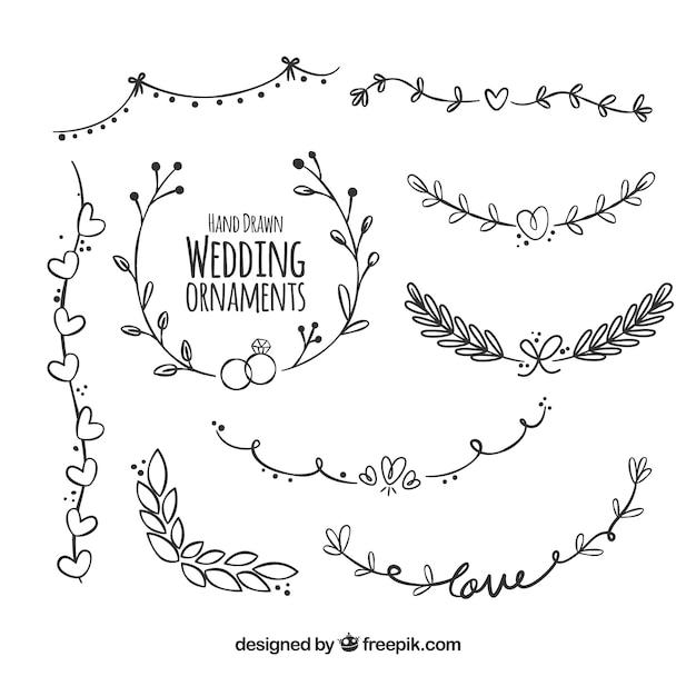 Decoração de casamento com estilo moderno Vetor grátis