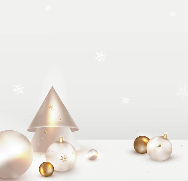 Decoração de natal natal Vetor Premium
