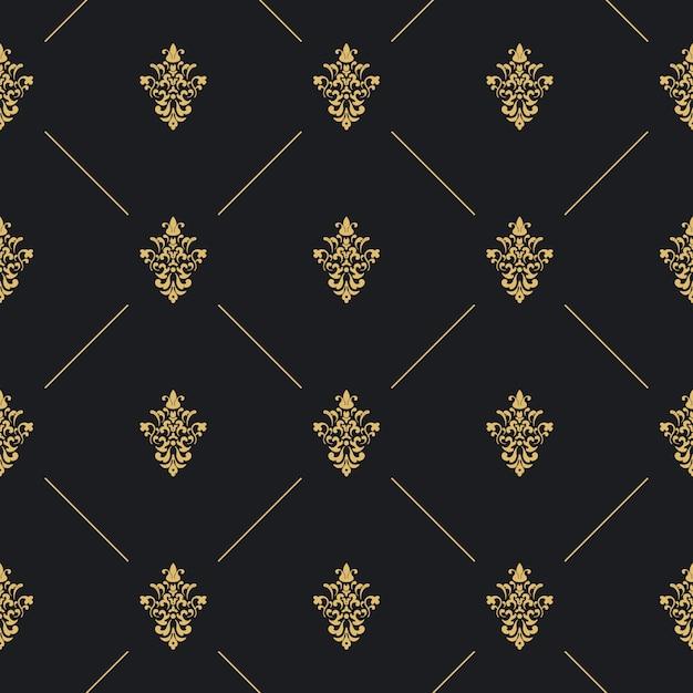 Decoração de padrão uniforme Vetor grátis