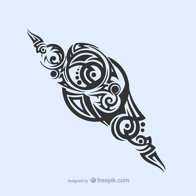 Decoração tribal tatuagem Vetor grátis