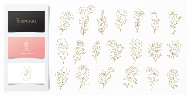 Decorações de flores para todas as necessidades Vetor Premium