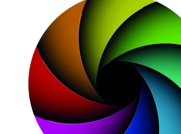 Decorativo Colorido Geometria Diafragma Set Baixar Vetores Grátis