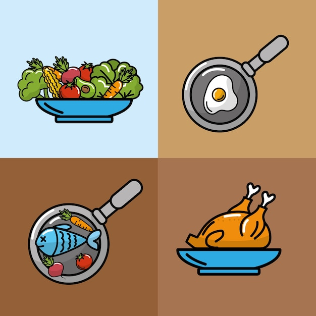 15d39917a Definir nutrição legumes e frutas com proteínas Vetor Premium