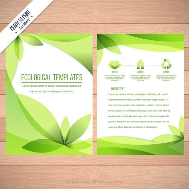 Deixa panfleto ecológico Vetor grátis