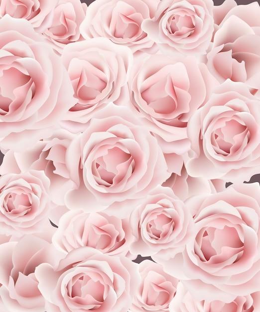 delicado vetor de fundo de rosas padr o projeto de modelo floral rosa pastel rom ntico. Black Bedroom Furniture Sets. Home Design Ideas