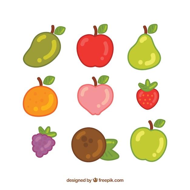 Deliciosas frutas de verão Vetor grátis