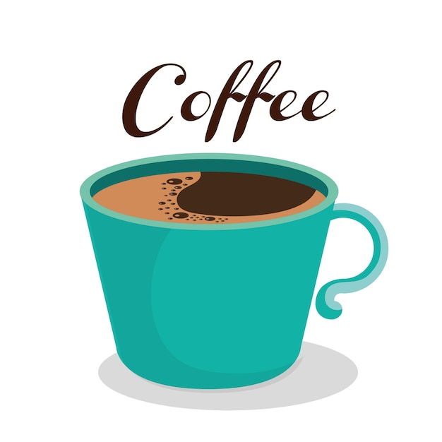Delicioso café bebida ícone vector ilustração design Vetor Premium