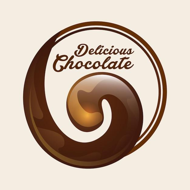 Delicioso chocolate Vetor Premium