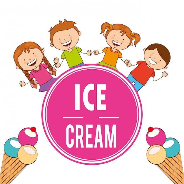 Delicioso sorvete Vetor Premium