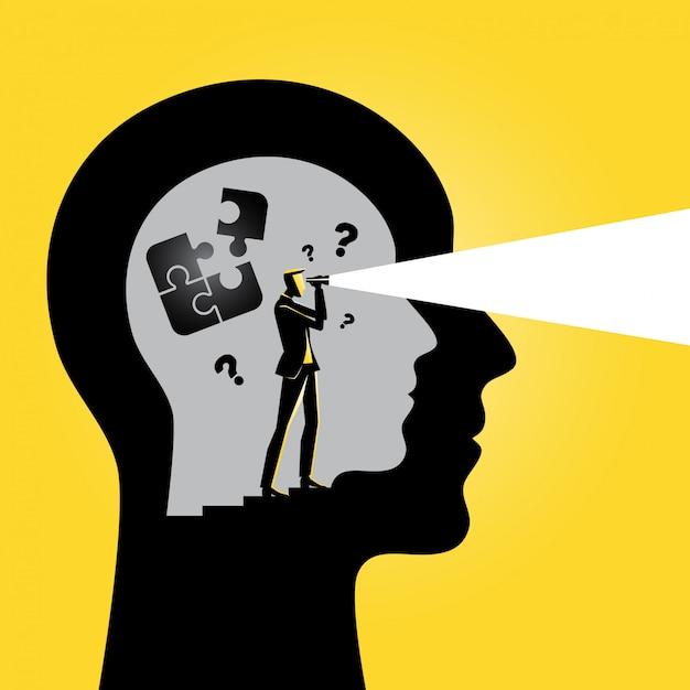 Dentro da mente das pessoas Vetor Premium