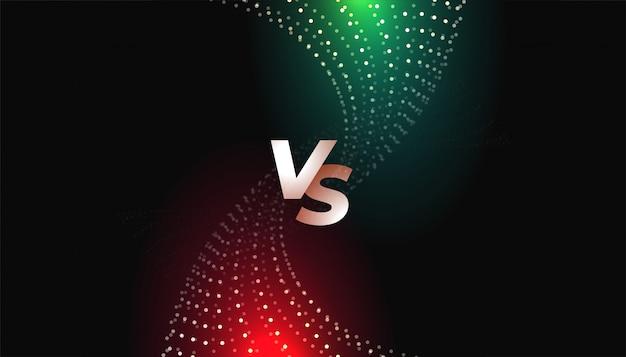 Desafio ou comparação versus modelo de tela vs Vetor grátis