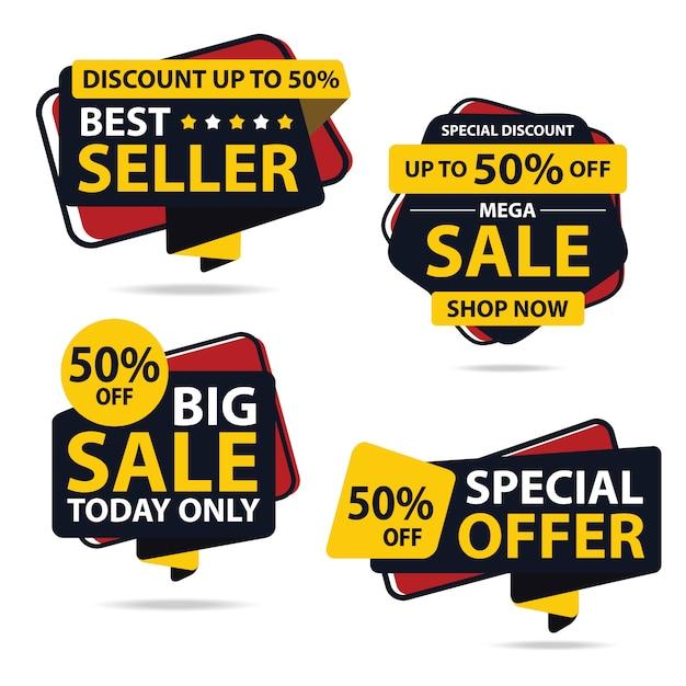 Desconto de grande venda Vetor Premium