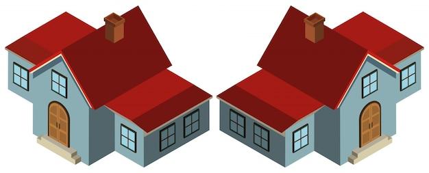 Desenho 3d para casa em azul baixar vetores gr tis for Simulador de casas 3d gratis