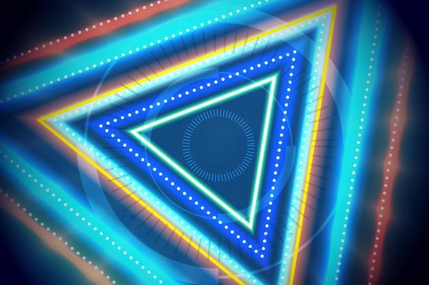 Desenho abstrato de triângulos de néon Vetor grátis