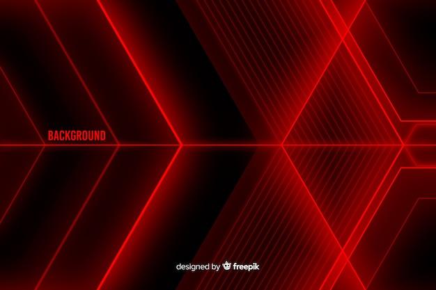 Desenho abstrato para fundo de formas de luz vermelha Vetor grátis