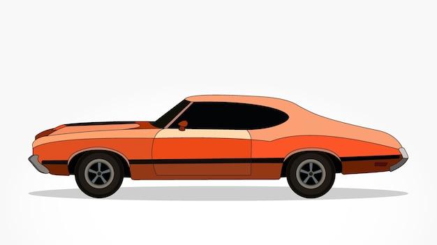desenho animado de carros laranja com efeito lado e sombra detalhado