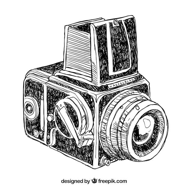 Well-known Desenho câmera do vintage | Baixar vetores grátis HO95