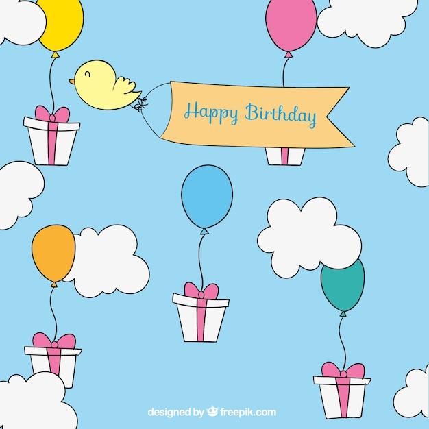 Desenho Cartões De Feliz Aniversário