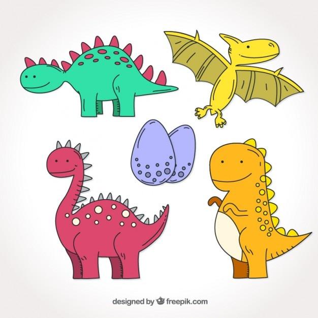 Desenho Coleção Dinossauro Colorido