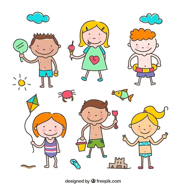 Desenho Criancas Vetor Gratis