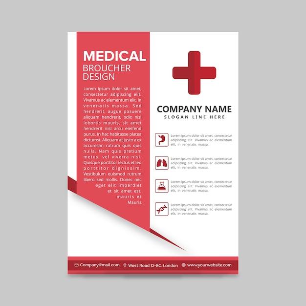 Desenho da brochura médica Vetor grátis