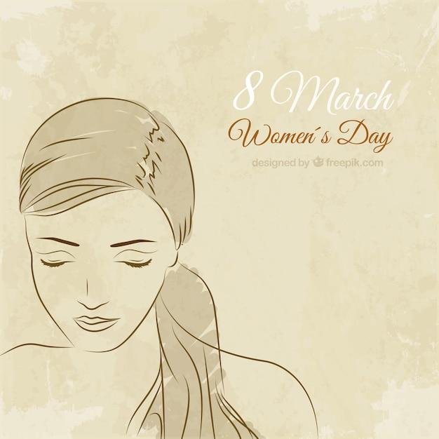 Preferência Desenho da face da mulher para o Dia da Mulher | Baixar vetores grátis SN87
