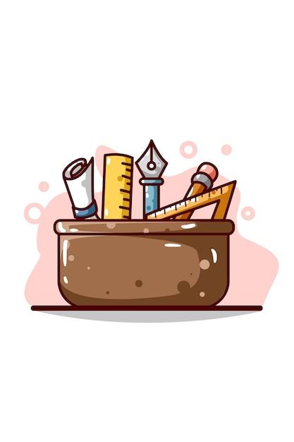 Desenho da ilustração da caixa de ferramentas de design Vetor Premium