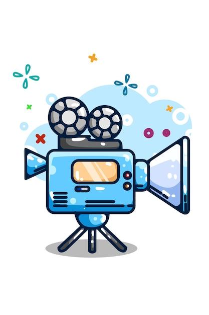 Desenho da mão da ilustração do vídeo da câmera Vetor Premium