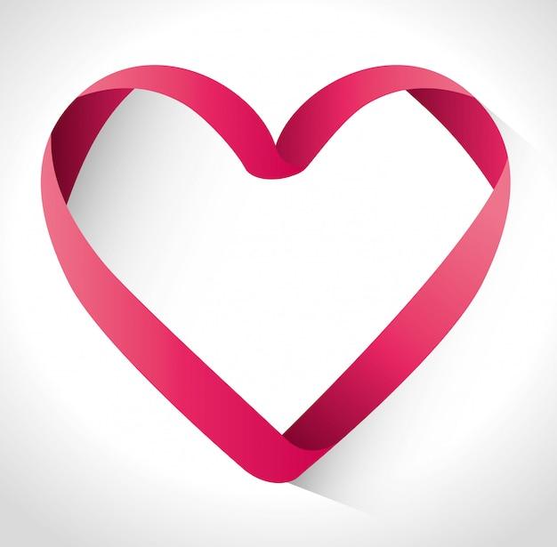 Desenho de amor Vetor Premium