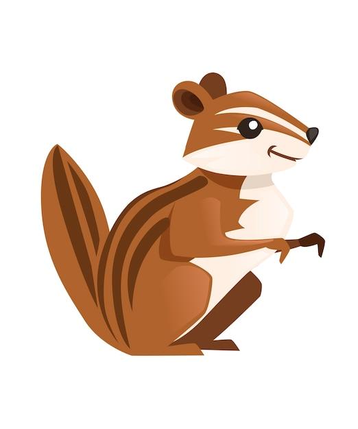 Desenho de animal bonito do gopher marrom Vetor Premium